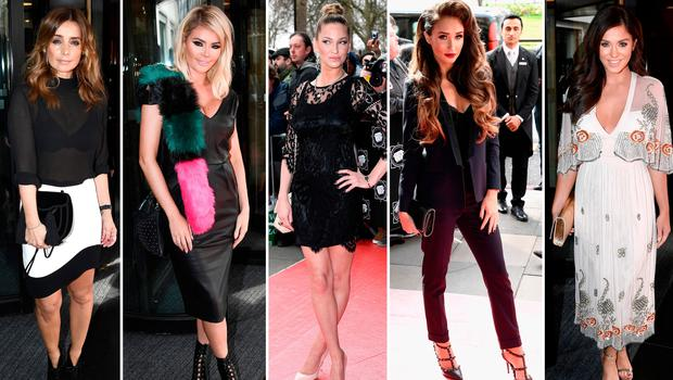 (L to R) Louise Redknapp, Chloe Sims, Sarah Harding, Megan McKenna and Vicky Pattison