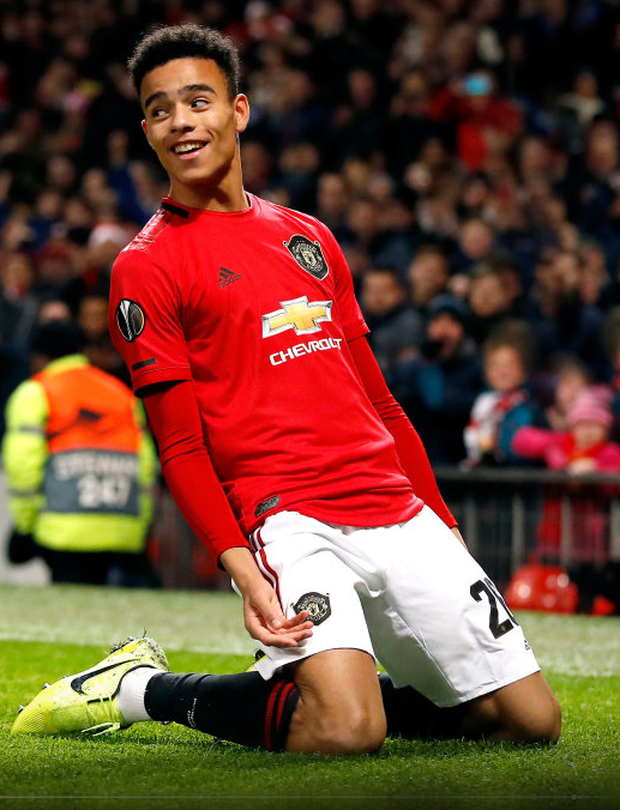 BACK TO BACK: Mason Greenwood scored against AZ Alkmaar in the Europa League and then against Everton in the Premier League. Photo: Martin Rickett/PA