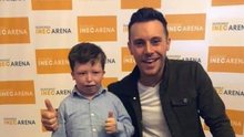 Jack O'Shea pictured with his hero singing star Nathan Carter