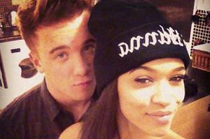 Sam Callaghan and Tamera Foster, pic tweeted by Sam.