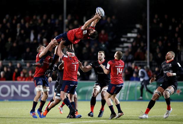 Munster's Jean Kleyn in European Champions Cup Group D action against Saracens at Allianz Park, London last month. Photo: Reuters/Paul Childs