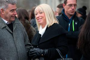 Anne Doyle at the funeral of former Pogues manager Frank Murray in St Paul's Church, Mount Argus.Photo: Tony Gavin
