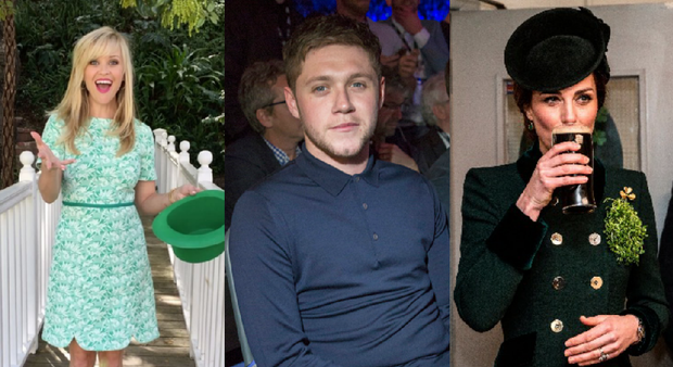 Reese Witherspoon, Niall Horan and Kate Middleton celebrated St Patrick's Day.