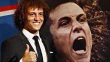 David Luiz at his official PSG unveiling today