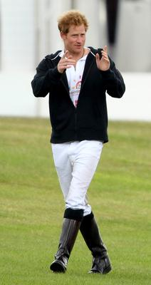 Prince Harry attends day 2 of the Audi Polo Challenge at Coworth Park on May 31, 2015 in Ascot, England.