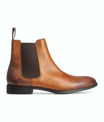 Leather Chelsea boot, €79.99, H&M