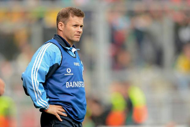 FIRST WIN: Dublin manager Dessie Farrell during the 2012 All-Ireland MFC final at Croke Park. Photo: Sportsfile
