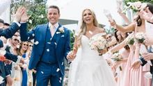 Rosanna celebrated with three weddings. Picture: Hello Magazine
