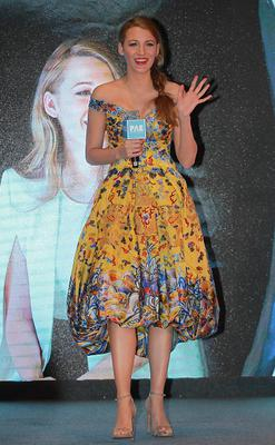 """Actress Blake Lively attends press conference of movie """"Log Out"""" on May 11, 2015 in Beijing, China."""