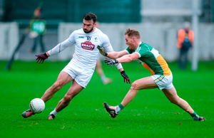 Fergal Conway of Kildare in action against James Lalor of Offaly. Photo: Sportsfile