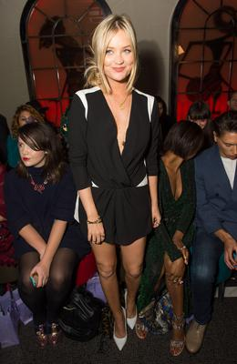 Her tailored monochrome playsuit at PPQ hit all the right style notes