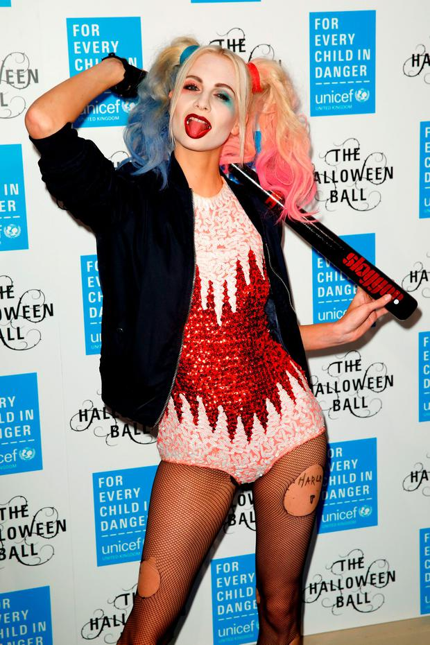 Poppy Delevingne did an incredible Harley Quinn impression