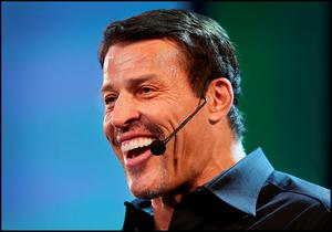 Motivational speaker Tony Robbins delivering his masterclass at the Pendulum Summit 2016 at the Convention Centre in Dublin. Pic Steve Humphreys
