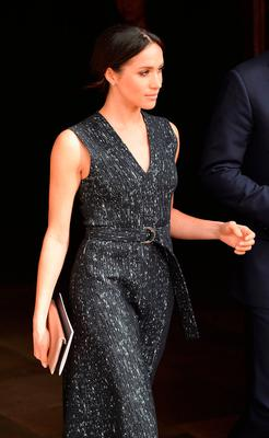 Meghan Markle departs after attending the 25th Anniversary Memorial Service to celebrate the life and legacy of Stephen Lawrence at St Martin-in-the-Fields on April 23, 2018 in London, England.  (Photo by Jeff Spicer/Getty Images)