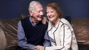 Devoted: Gay Byrne and his wife Kathleen. Photo: David Conachy