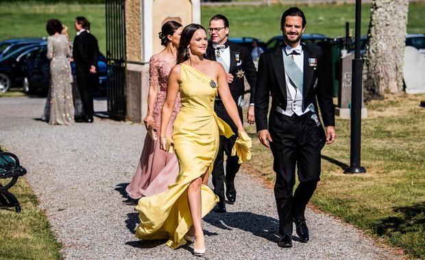 Princess Sofia of Sweden and Prince Carl Philip at a friend's wedding in Sweden. Picture: IBL/REX/Shutterstock