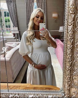 Baby bump: Rosanna Davison initially struggled with morning sickness during her surprise pregnancy