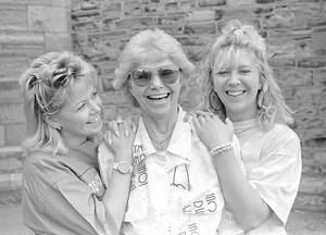 Jean, Billie and Lorraine Barry of the Billie Barry Stage School in 1989