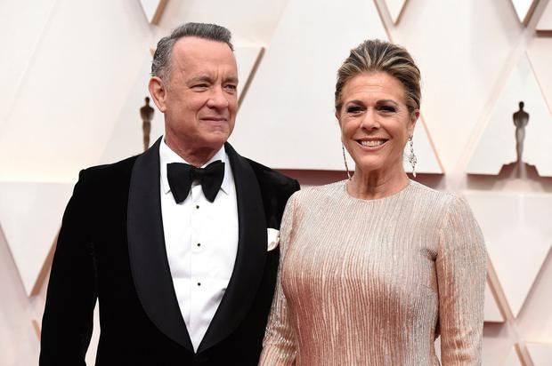 INFECTED: Tom Hanks and his wife Rita Wilson