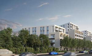 A CGI image of how the Project Montrose apartments will look