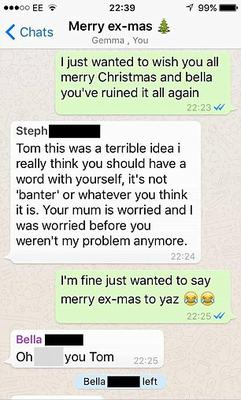 Steph isn't impressed with Tom's actions Credit: Facebook/Lads Bible