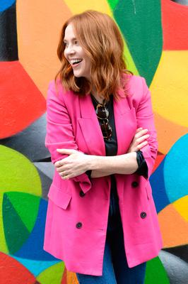 Angela Scanlon was in great form for the photo shoot in Dublin Pic: Justin Farrelly.