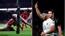Manu Tuilagi was sent off for England for a dangerous tackle