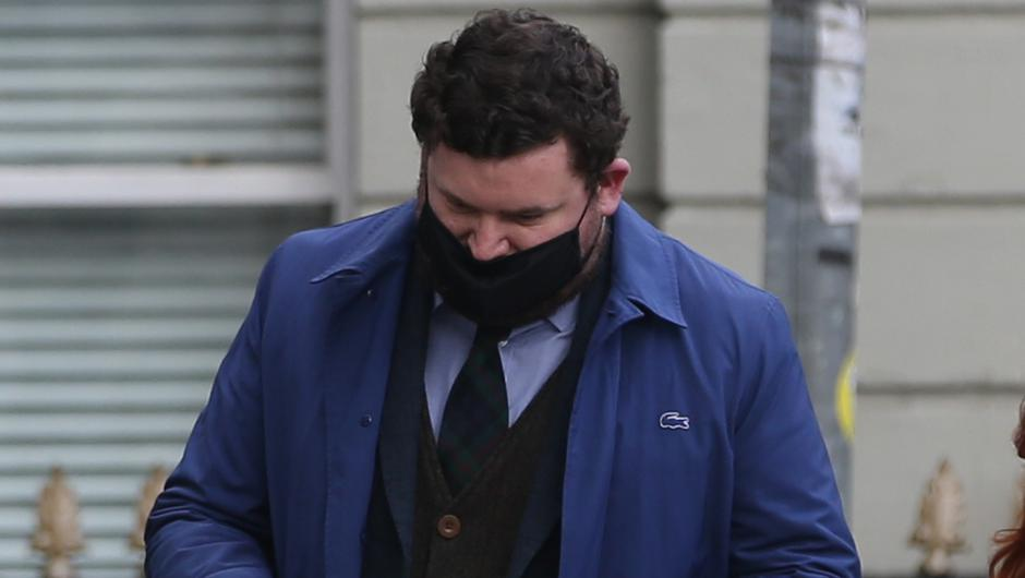 Donal Fallon pictured leaving court. Pic: Collins