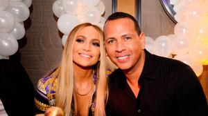 Jennifer Lopez and Alex Rodriguez attend Jennifer Lopez's MTV VMA's Vanguard Award Celebration at Beauty & Essex on August 21, 2018 in New York City.  (Photo by Andrew Toth/Getty Images for TAO Group)