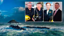 The crew of Rescue 116: (left to right) Paul Ormsby, Mark Duffy, Dara Fitzpatrick and Ciaran Smith