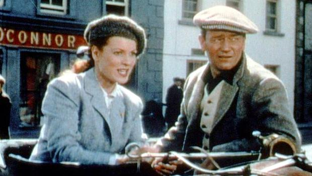 O'Hara and Wayne in a still from the film