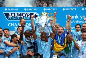 Manchester City winning the Premier League. Photo: Alex Livesey/Getty Images