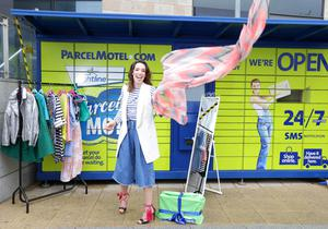 stylist Ciara O'Doherty as Parcel Motel are celebrating their 3rd birthday by offering Irish customers free returns to ther favourite online retailers for the month of May.