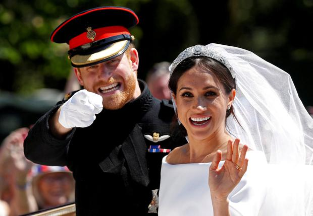 Going their own way: Prince Harry and Meghan Markle on their wedding day in May 2018. Photo: REUTERS/Damir Sagolj