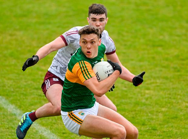 Kerry's David Clifford in action against Galway's Sean Mulkerrin during the Allianz Football League Division 1 match