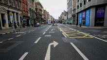 Ghost town: Retailers have been hit hard by the pandemic, with a massive drop in footfall in Dublin city centre. Photo: Gareth Chaney, Collins