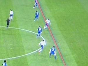Chelsea's video analysis appears to show Kane in an offside position (Sky Sports)