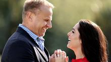 Grainne Seoige and partner Leon Jordaan.  Picture: GERRY MOONEY.