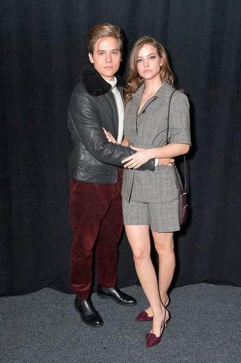 Dylan Sprouse and model Barbara Palvin attend the BOSS Womenswear and Menswear fashion show during New York Fashion Week on February 13, 2019 in New York City. (Photo by Michael Loccisano/Getty Images)