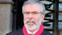 Gerry Adams reiterated his claims about Brexit harming the Good Friday Agreement at a conference in Dublin on Saturday. Photo: Tom Burke