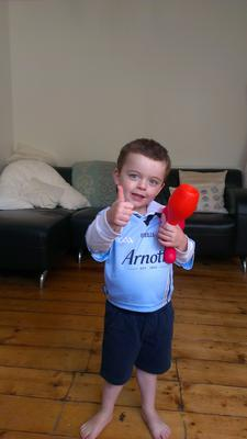 3-year-old Alfie White  from Clonliffe Road in Dublin is one of the luckiest boys in the country - he lives on the doorstep of Croker