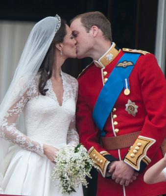 Prince William and Kate Middleton's wedding day in 2011