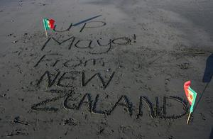 The Black sands of New Zealands west coast is supporting Mayo (Picture: Arvind Puri)