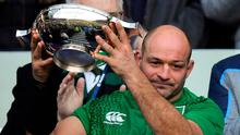 Ireland captain Rory Best with the Centenary Quaich after the Guinness Six Nations Rugby Championship match between Scotland and Ireland at Murrayfield last year. Photo by Brendan Moran/Sportsfile