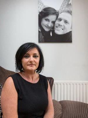 Treacy Harris pictured at their Clonee home yesterday.