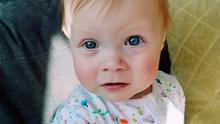 Leah Peters, the one-year-old has recovered from Covid-19 despite being born with a congenital heart defect and a chronic lung disease Photo credit: United Lincolnshire Hospitals/PA Wire