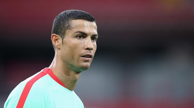 Cristiano Ronaldo of Portugal looks on during a training session at Spartak Stadium on June 20, 2017 in Moscow, Russia. (Photo by Alex Livesey - FIFA/FIFA via Getty Images)