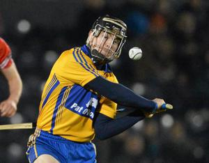 Tony Kelly, Clare, in action against Cork at Pairc Ui Rinn, Cork. Picture: Diarmuid Greene/Sportsfile.