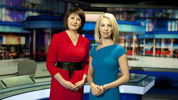 DRIVEN AND COMMITTED: Keelin Shanley with fellow RTE 'Six One News' presenter Caitriona Perry