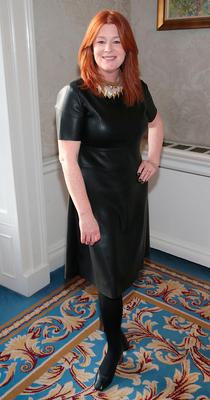 Blathnaid Ni Chofaigh at the CARI charity Christmas lunch at the Shelbourne Hotel, Dublin. Picture: Brian McEvoy